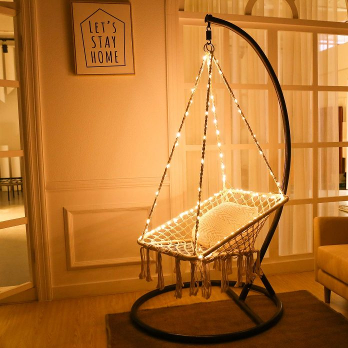 This Instagram-Worthy Hammock Chair With Lights