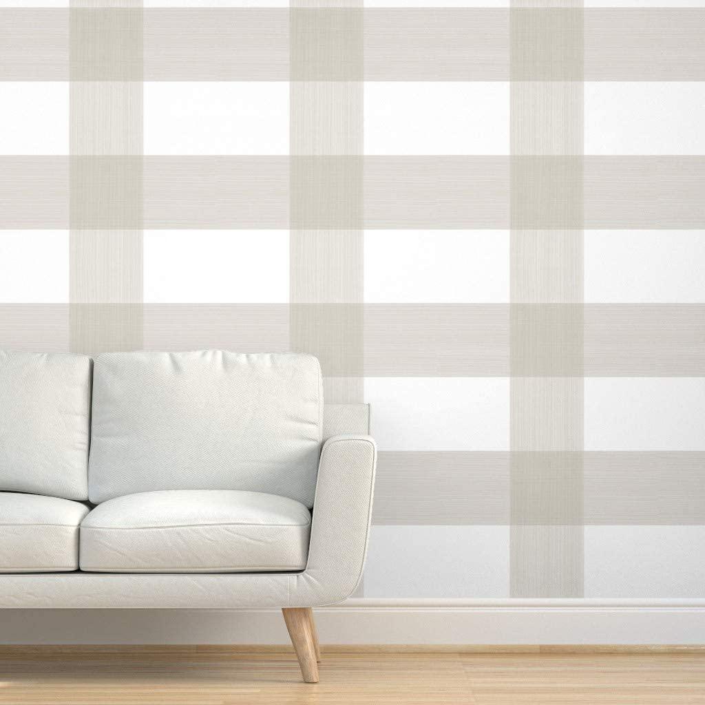 Spoonflower Plaid Wallpaper