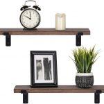 Wooden shelves