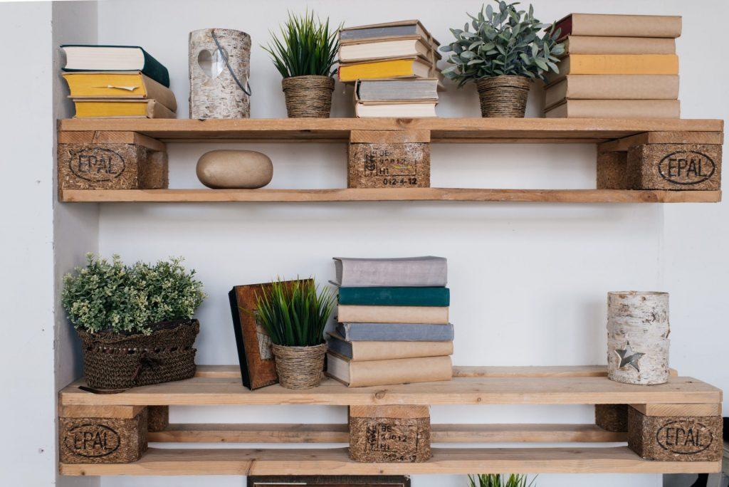 artsy bookshelf