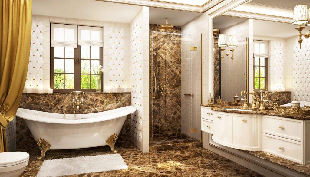European Style master bathrooms