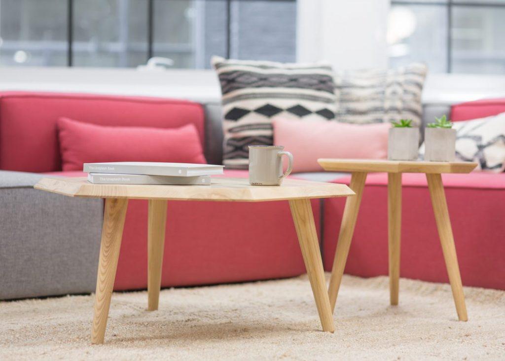 coral colored furniture