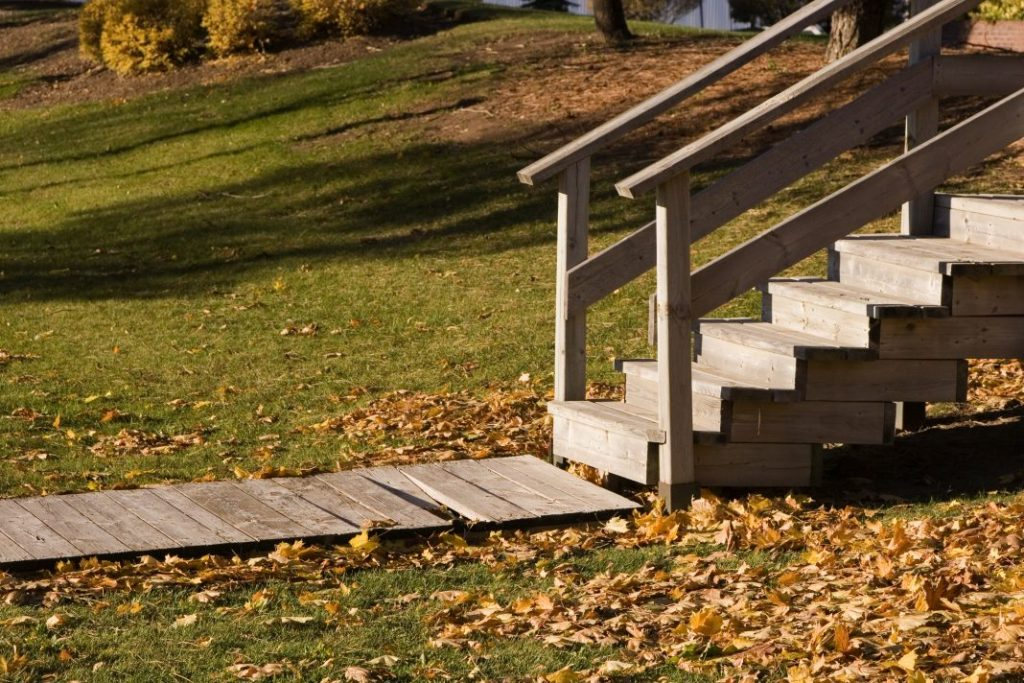 Deck With Wooden Steps