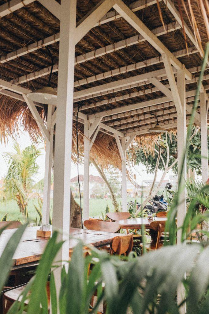 exotic island style pergola