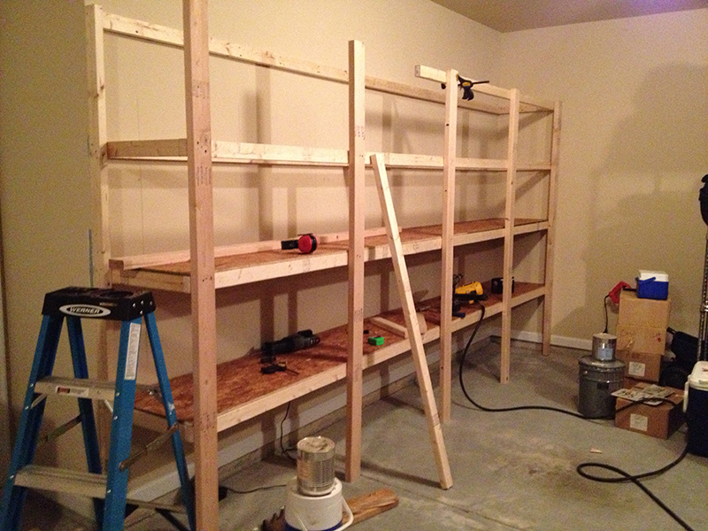 Attached Garage Storage Shelves