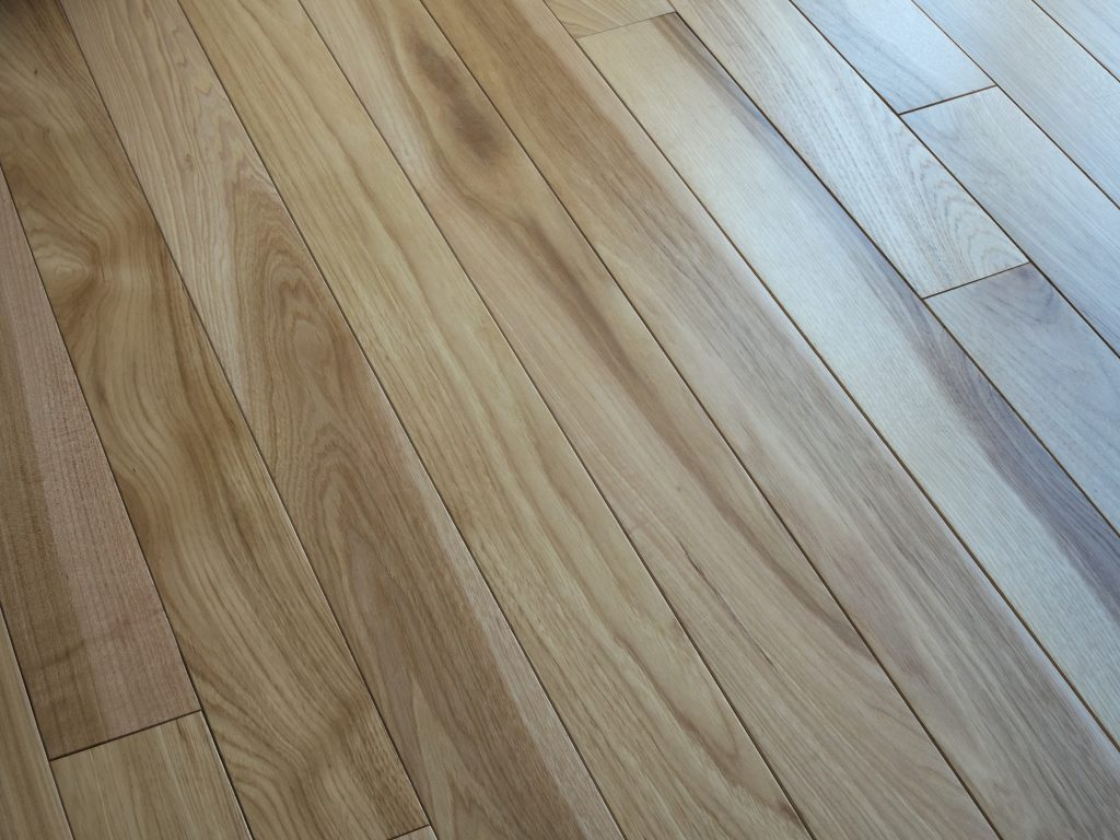 Hickory wood natural floor for texture background
