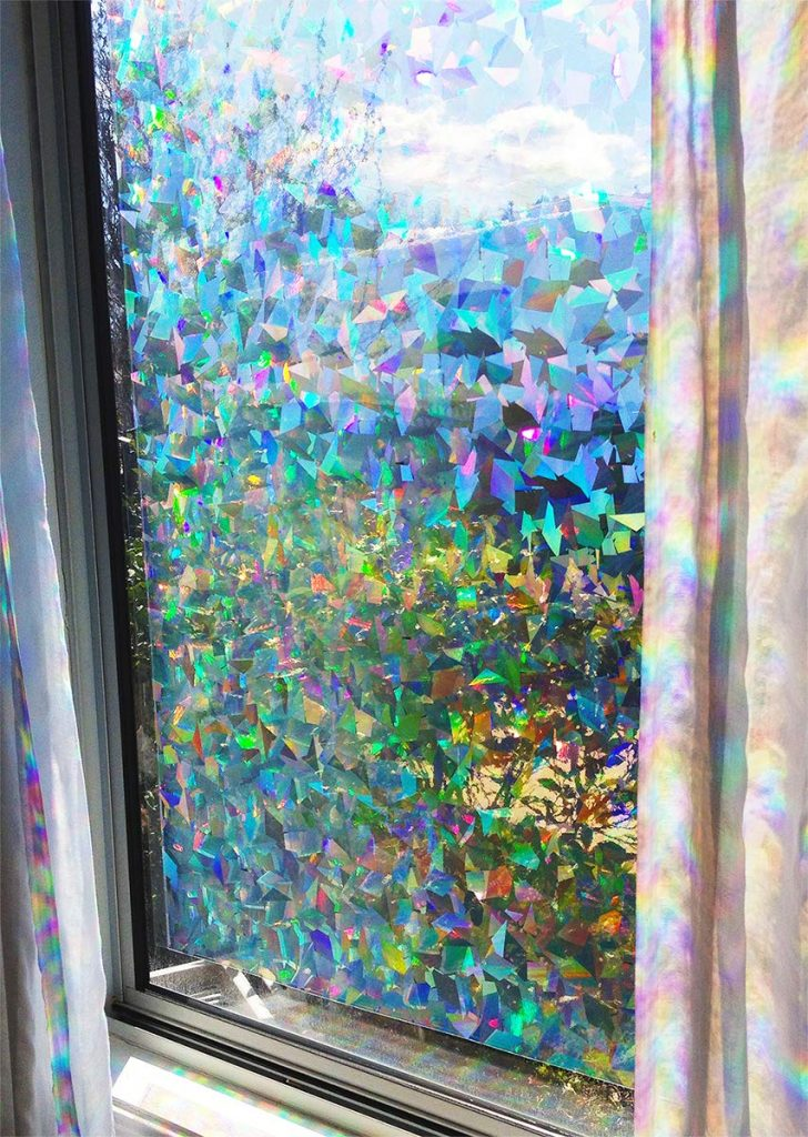 Iridescent Holographic Window Film