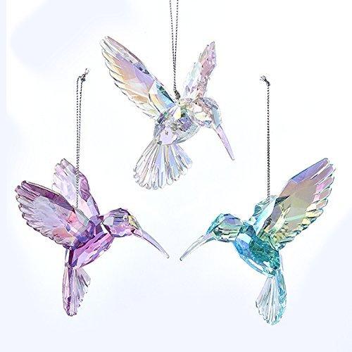 Pearlescent Hummingbird Ornaments