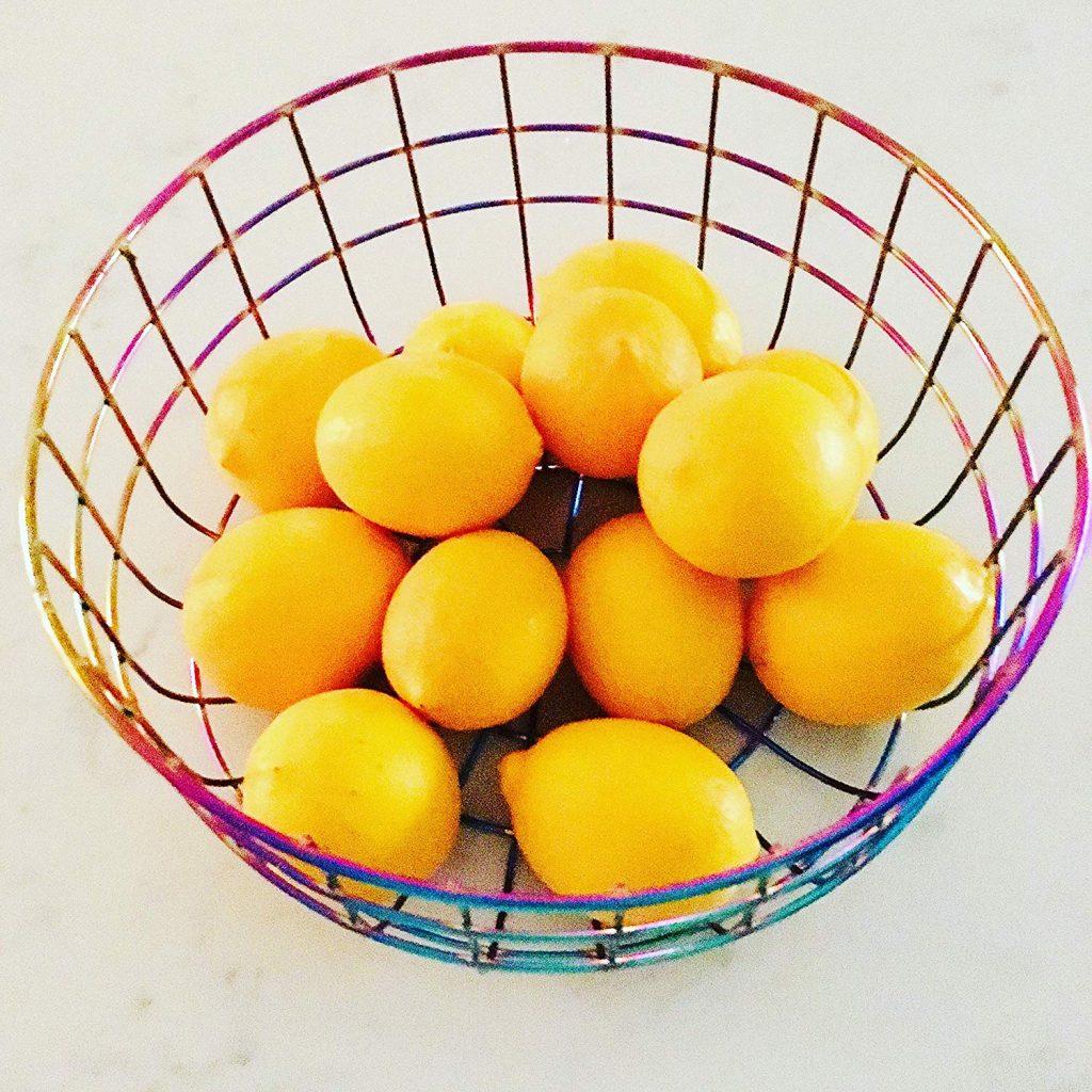 Iridescent Fruit Basket