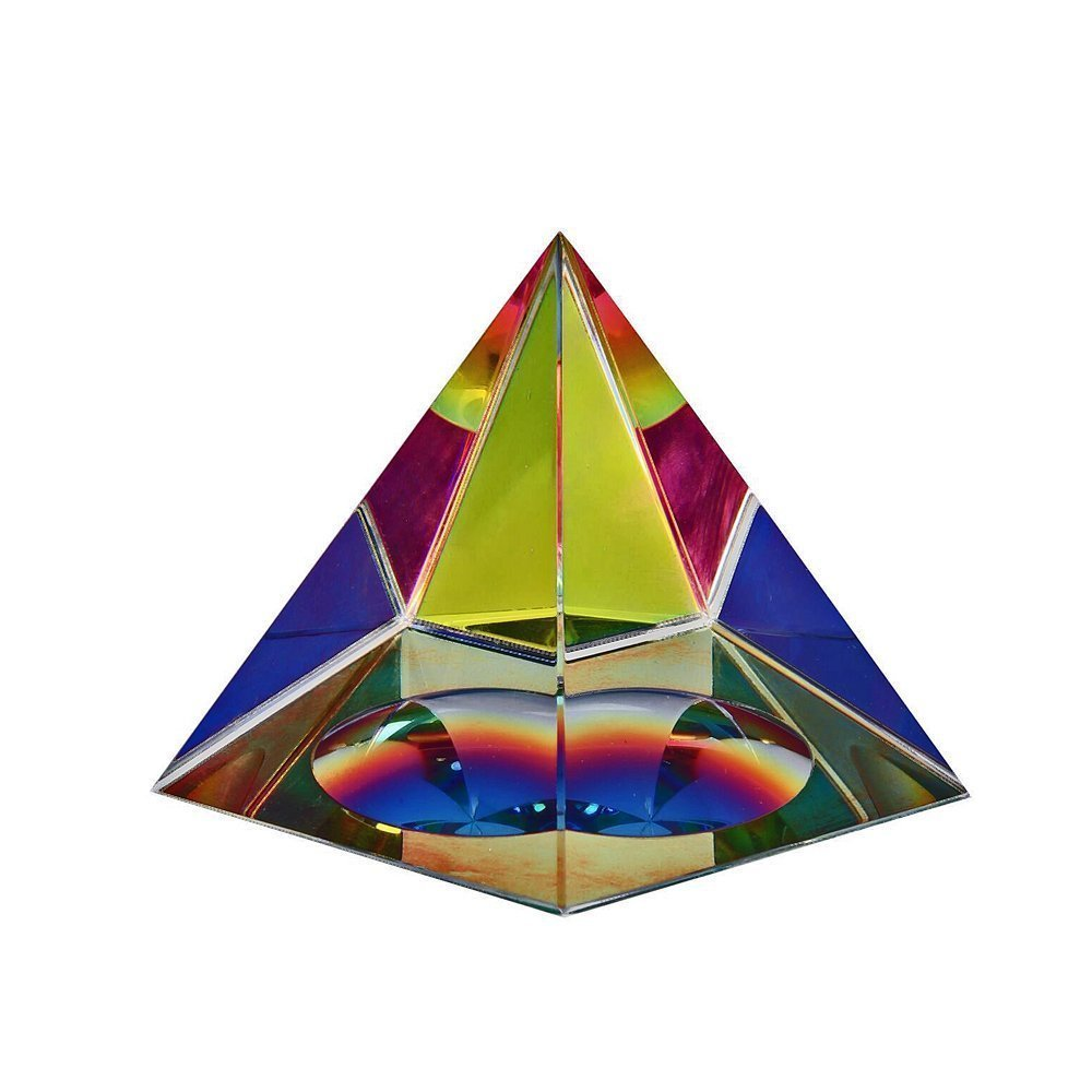 Iridescent Crystal Pyramid