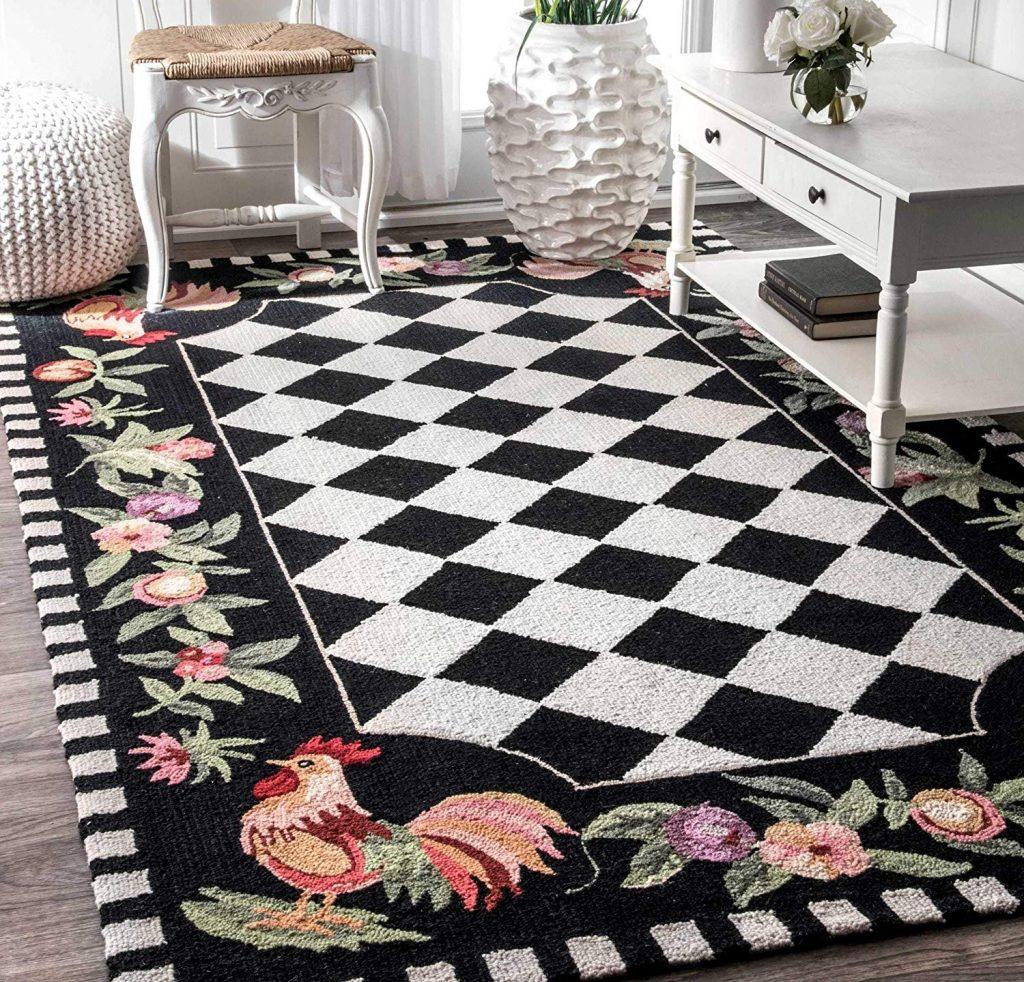 plaid carpet