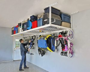 15 Super Useful Overhead Garage Storage Racks