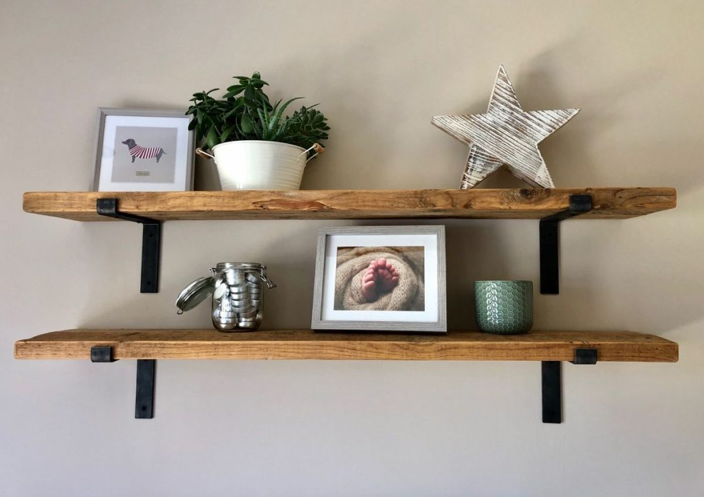salvaged shelves