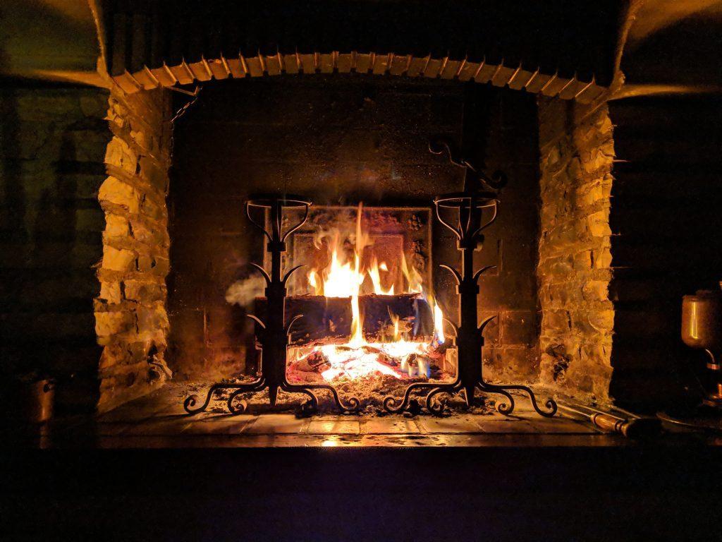 Fireplace scandinavaian