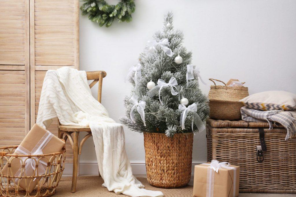 Small Sized White Christmas Tree
