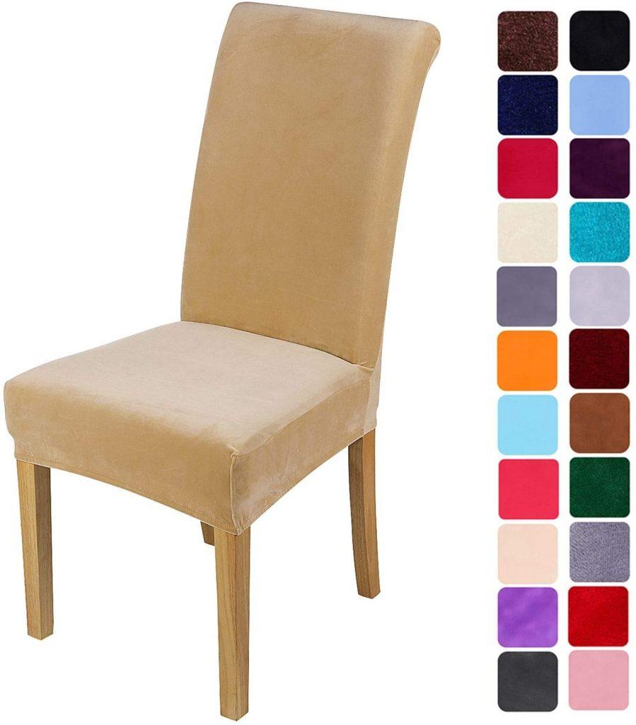 smiry Velvet Stretch Dining Room Chair