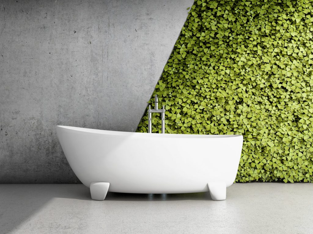 wall-garden master bathroom