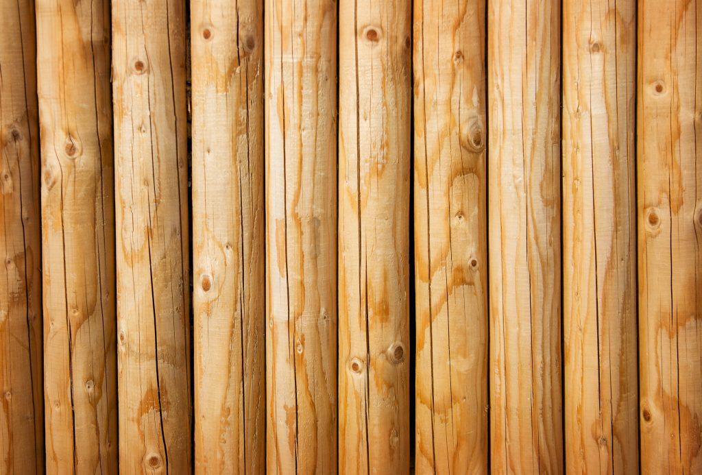 Fresh wooden fence