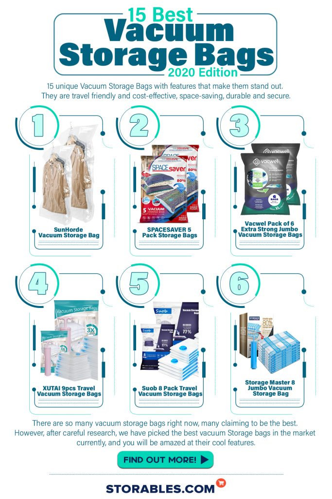15 Best Vacuum Storage Bags 2020 Edition - INFOGRAPHICS