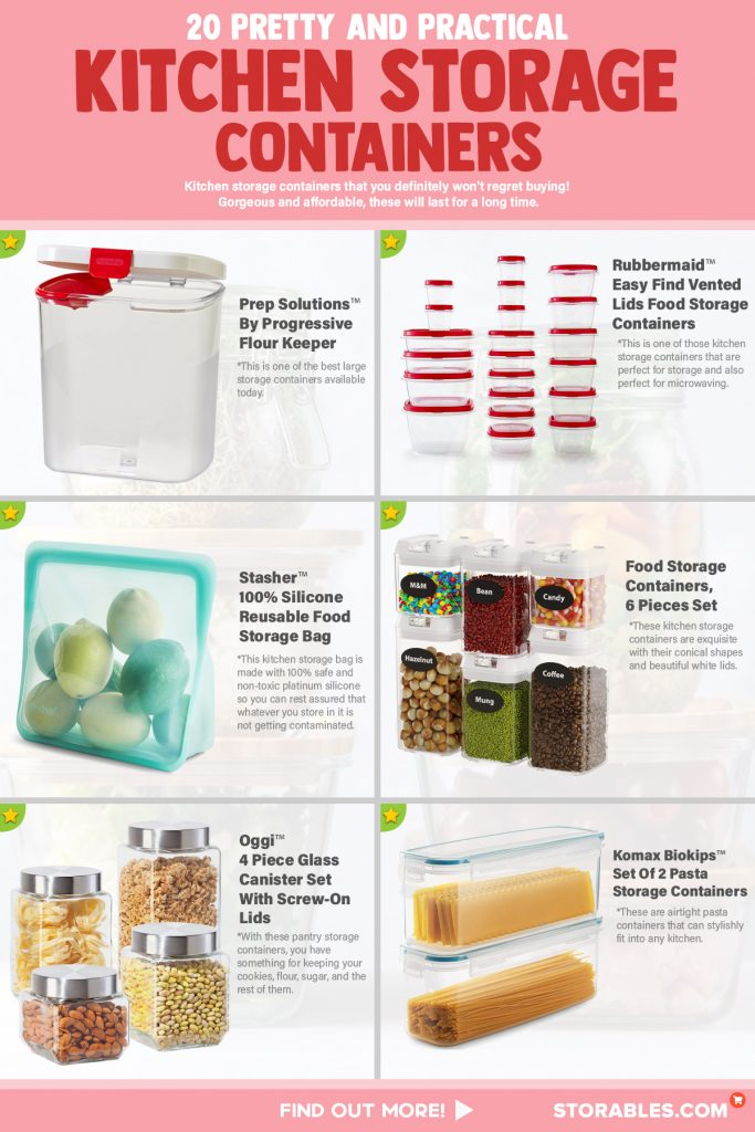 20 Pretty And Practical Kitchen Storage Containers - INFOGRAPHICS R