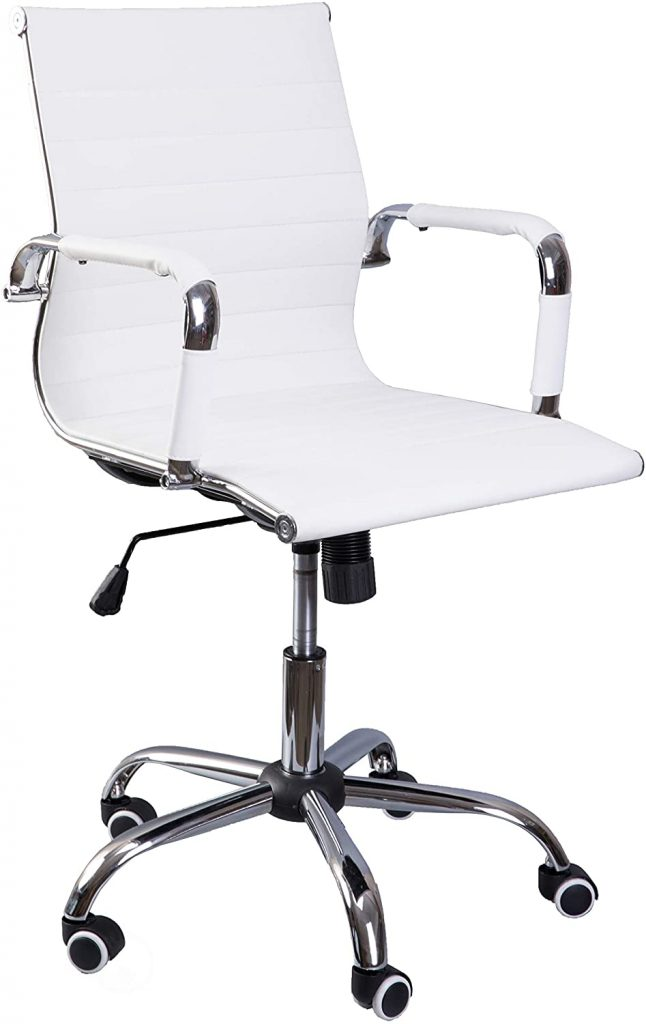 Bold Tones Modern Leather Swivel Office Chair