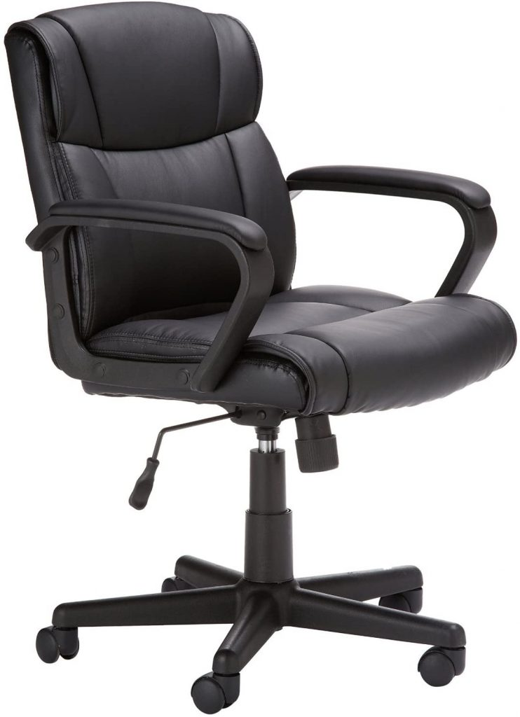 AmazonBasics Leather-Padded Chair