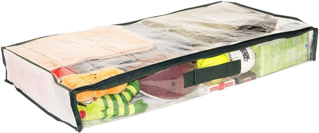 5-Pack Clear Vinyl Zippered Underbed Storage Bag