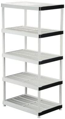 5-Shelf Plastic Ventilated Storage Shelving Unit by HDX
