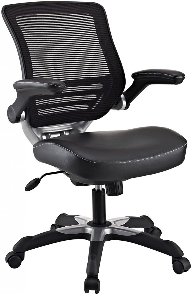 Modway Edge Mesh Black and White Computer Chair