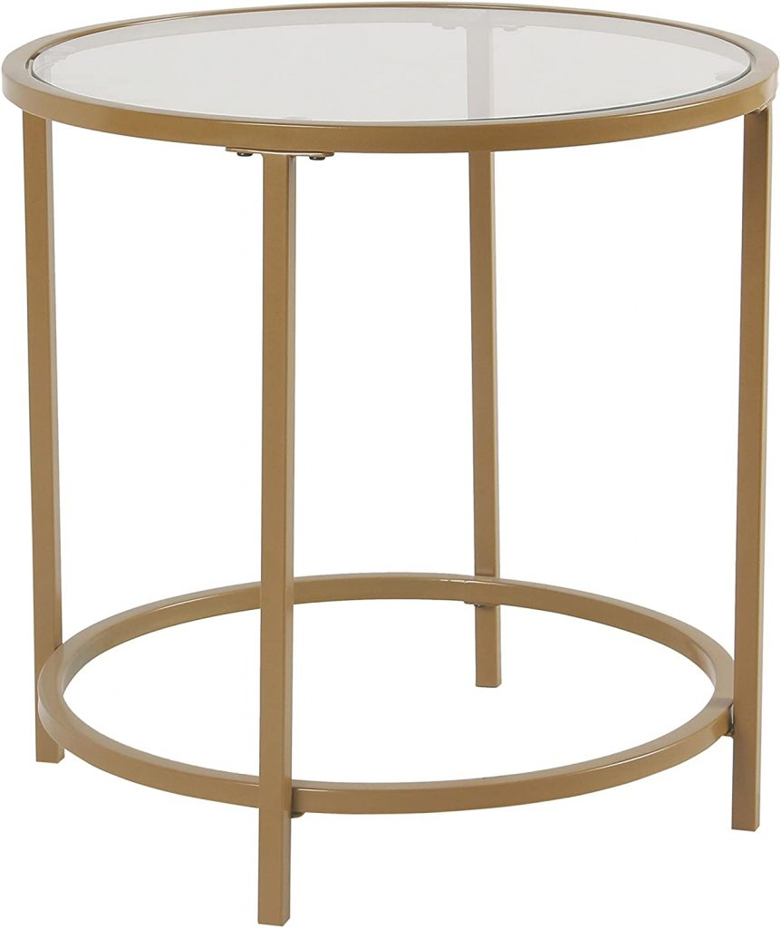 Spatial Order Round Metal Accent Table