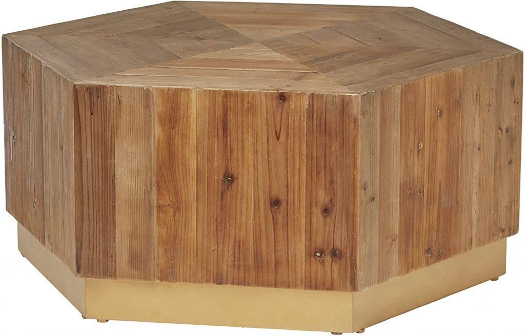 Rivet Rustic Reclaimed Fir Wood Coffee Table