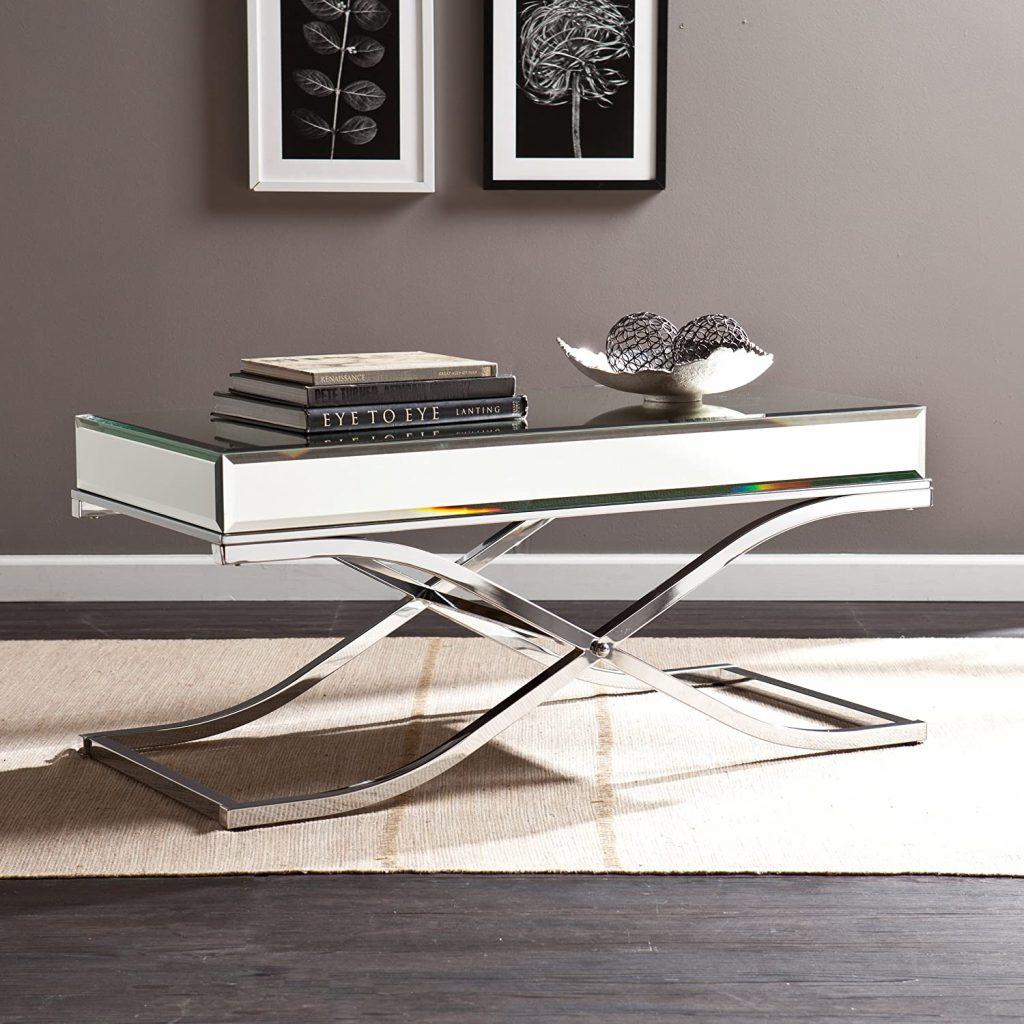 SEI Furniture Ava Mirrored Coffee Table