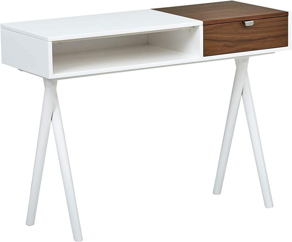 Rivet Modern Cross Legged Home Office Computer Desk