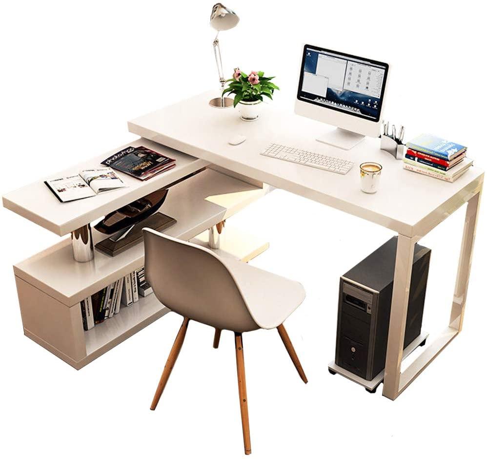 Rotatable Computer Desk Shelves