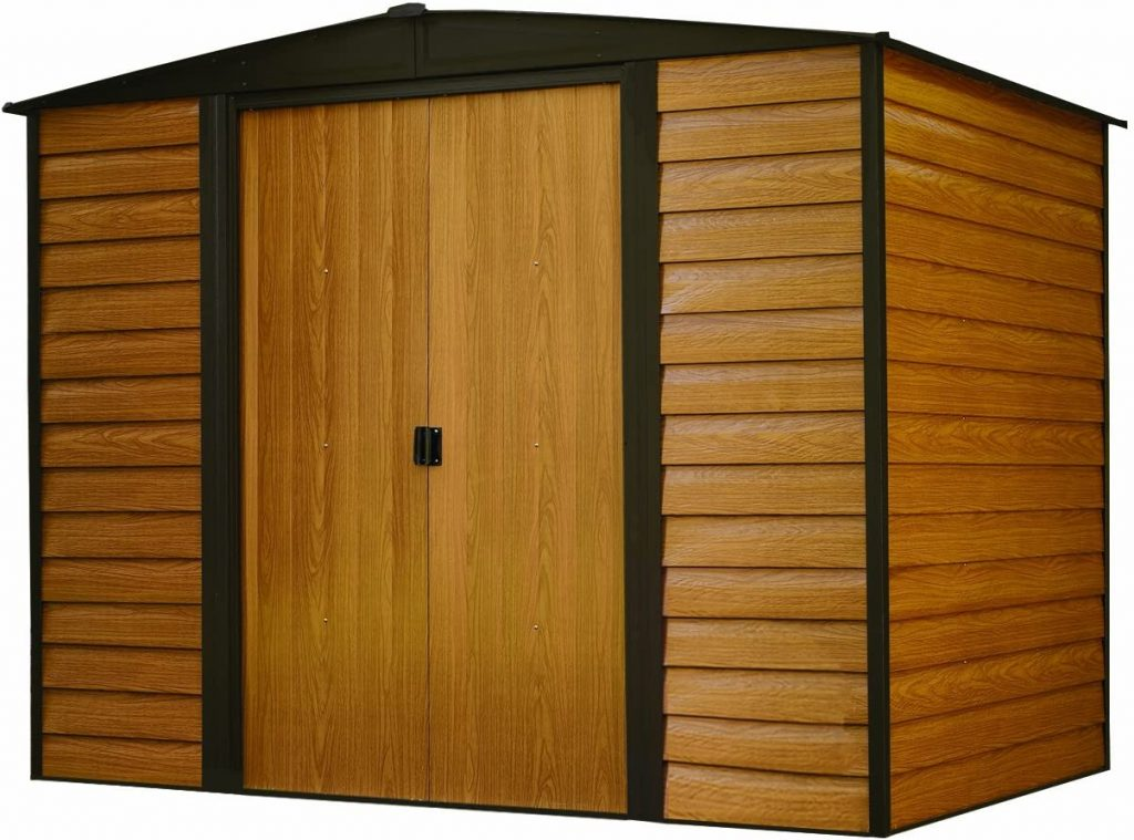 Arrow 6 x 5 ft. Woodgrain Storage Shed