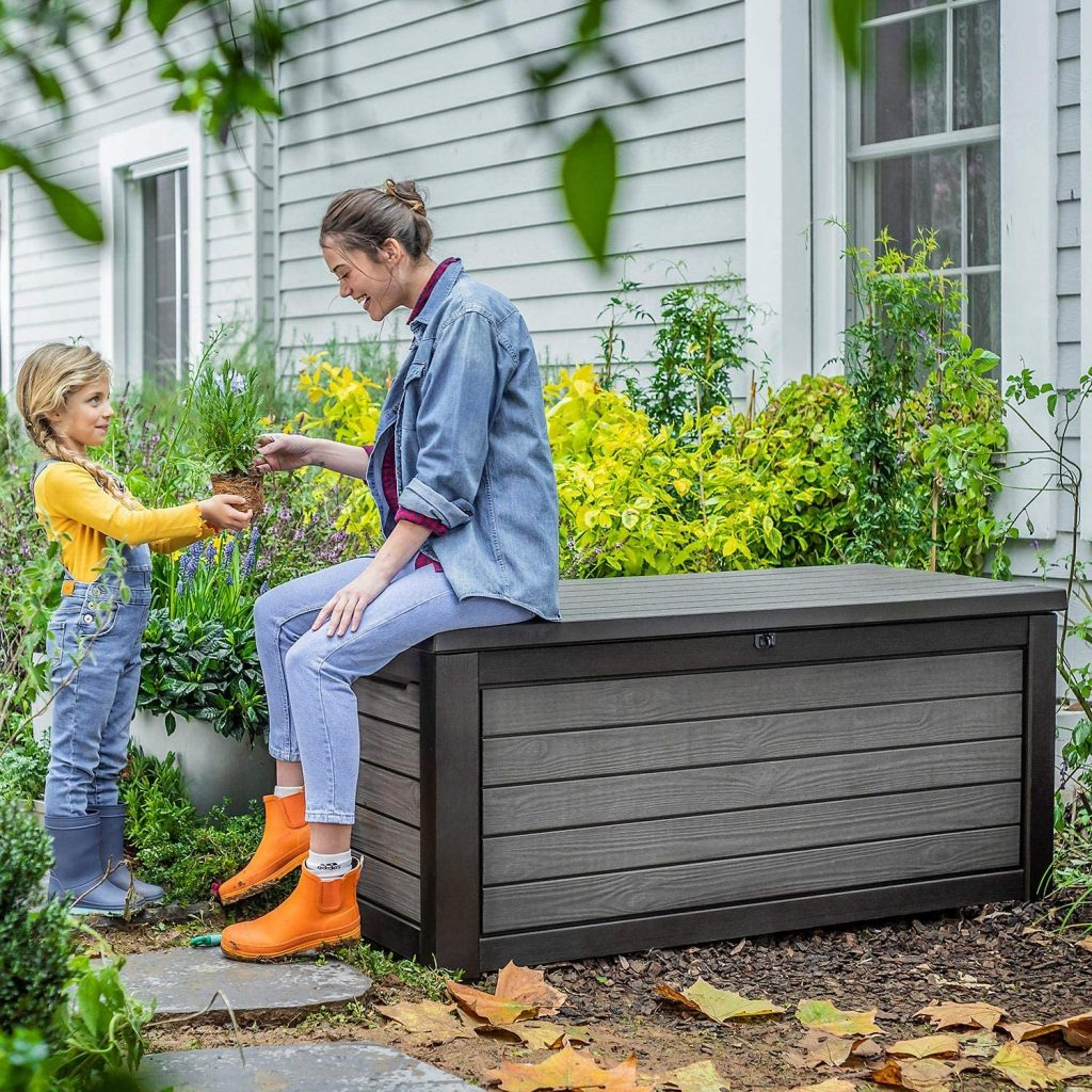165 Gallon Weather Resistant Resin Deck Storage Container Box