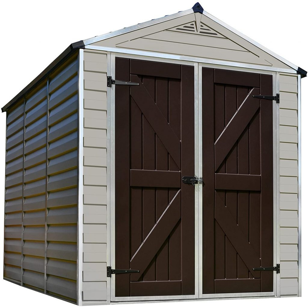 Palram Skylight Storage Shed, 6' x 8.'