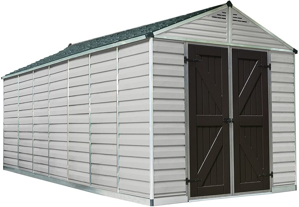 Palram Skylight Storage Shed - 8' x 16'