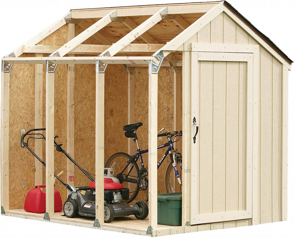 2x4basics Custom Shed Kit with Peak Roof