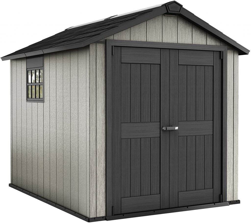 Keter Oakland 7.5x9 Foot Large Resin Outdoor Shed