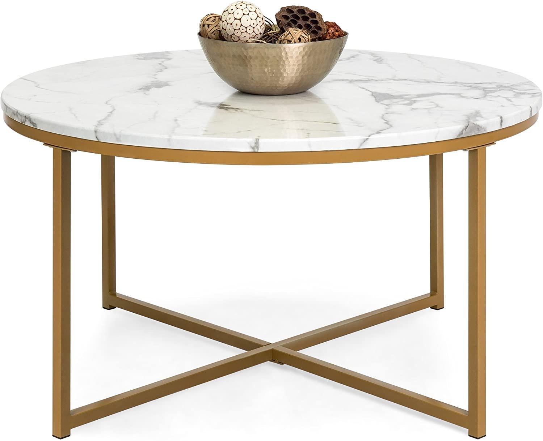 Glass Top Coffee Table With Storage Shelfs