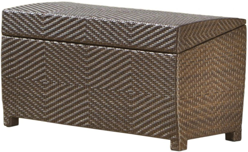 Best Selling Outdoor Wicker Storage Ottoman