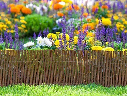 Master Garden Products Rolled Willow Border Fence