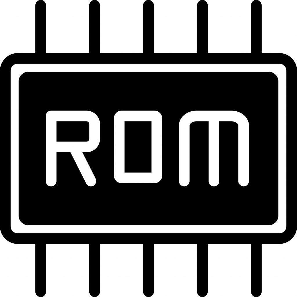 ROM chip illustration