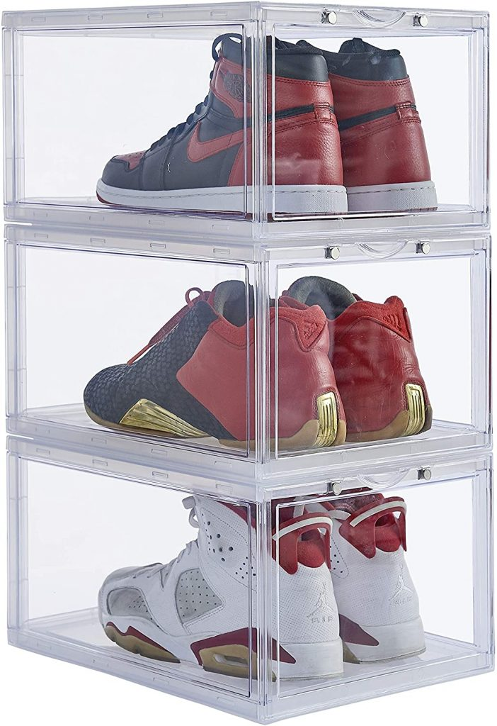 Stackable Shoe Organizer Clear Plastic by Ironland