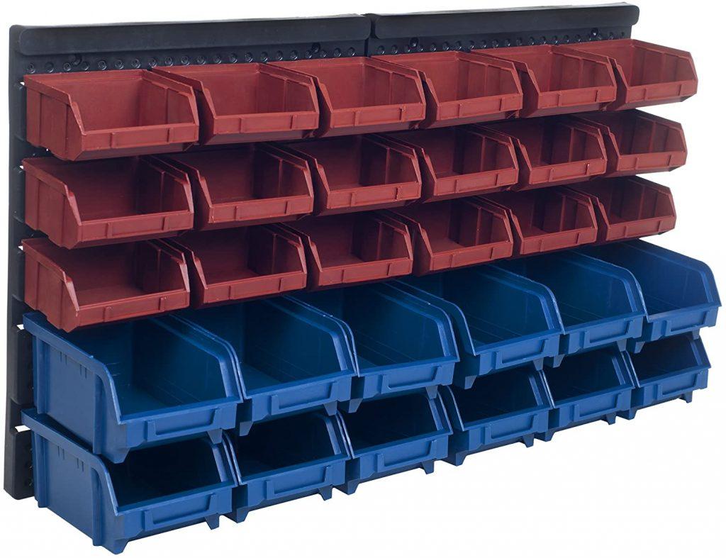 Stalwart 30 Compartment Wall Mount Organizer Bins