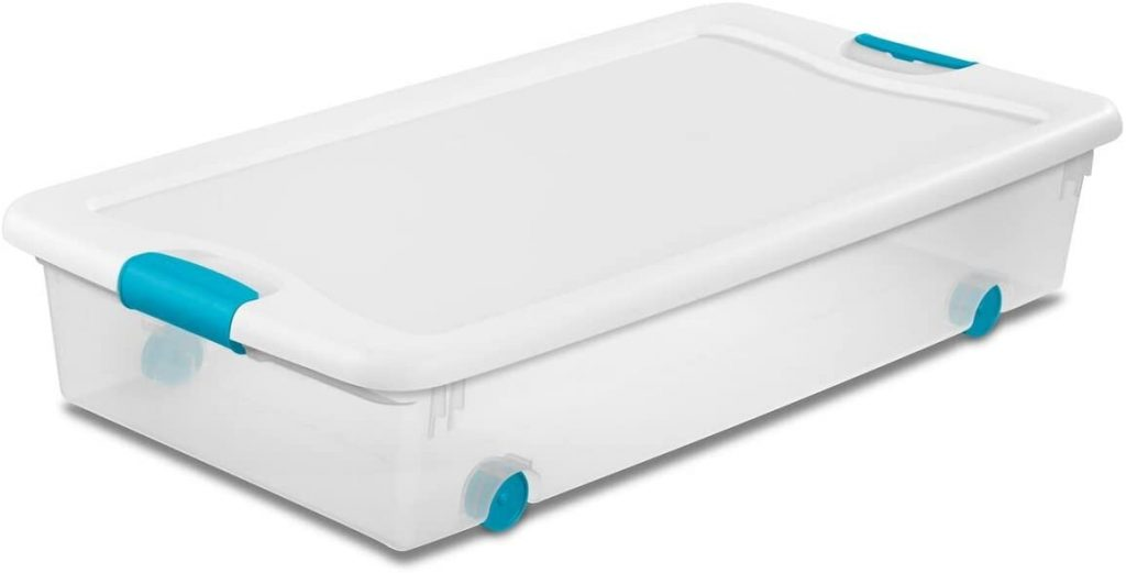 Sterilite Wheeled Latching Box with Clear Base