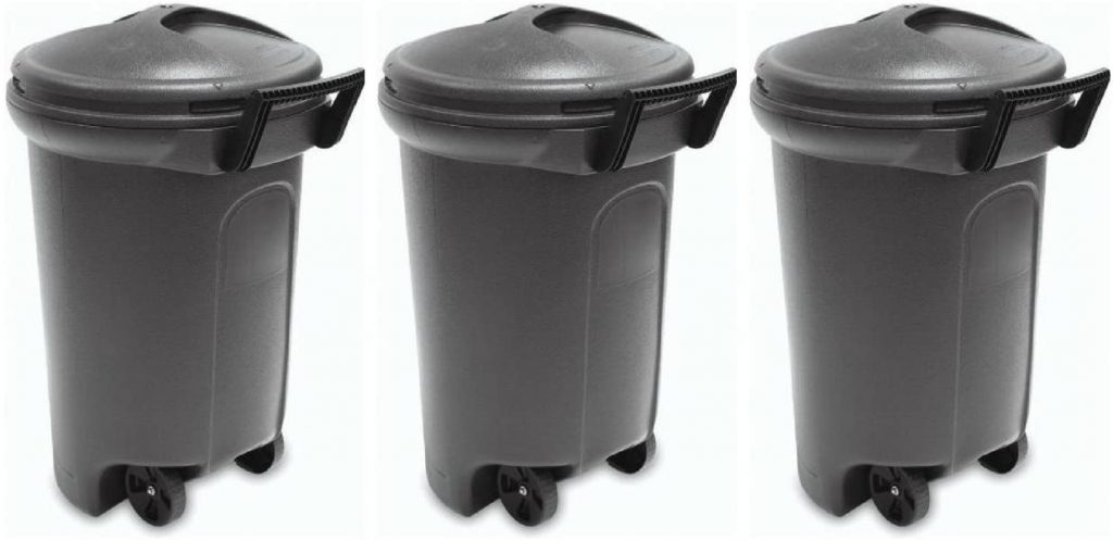 United Solution 32 Gallon Wheeled Trash Can