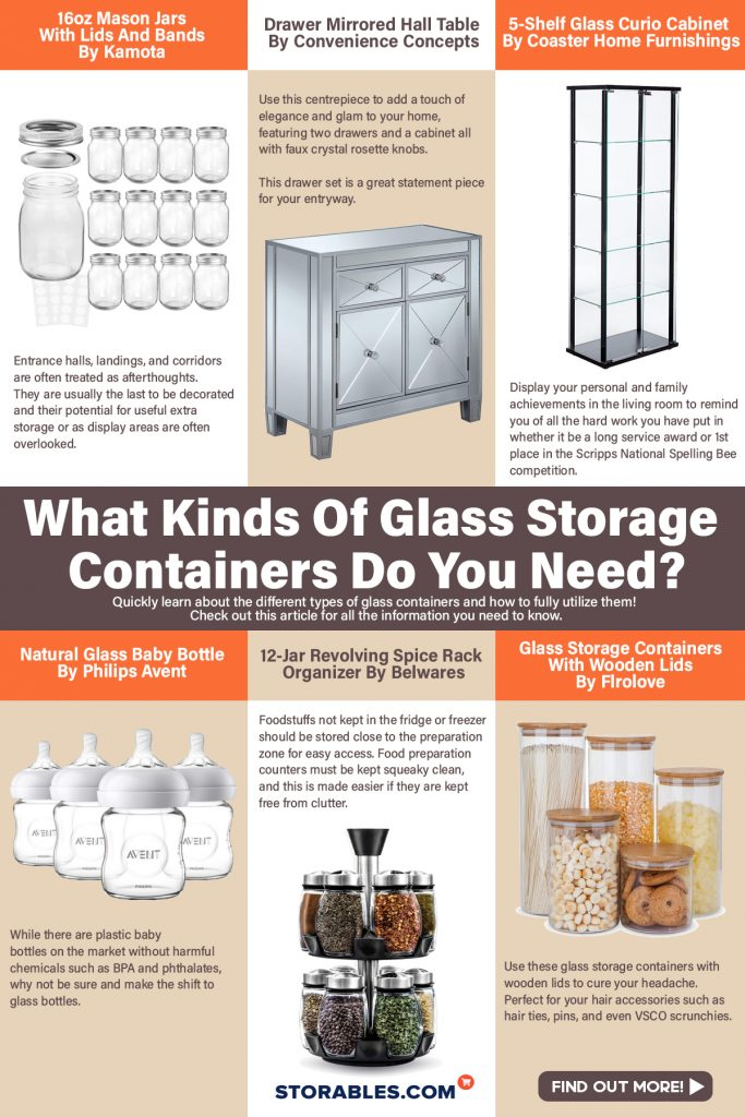 What Kinds Of Glass Storage Containers Do You Need - INFOGRAPHICS