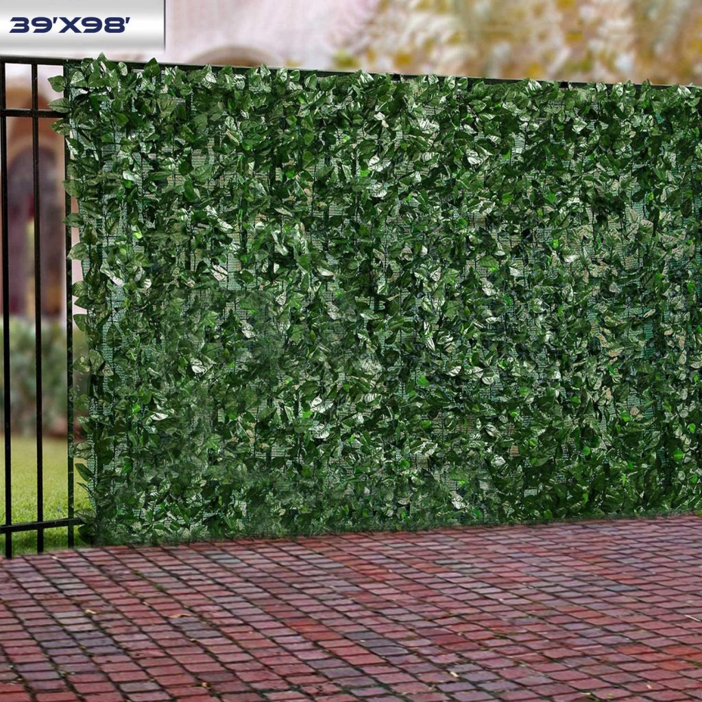 Windscreen4less Artificial Faux Ivy Leaf Decorative Fence Screen